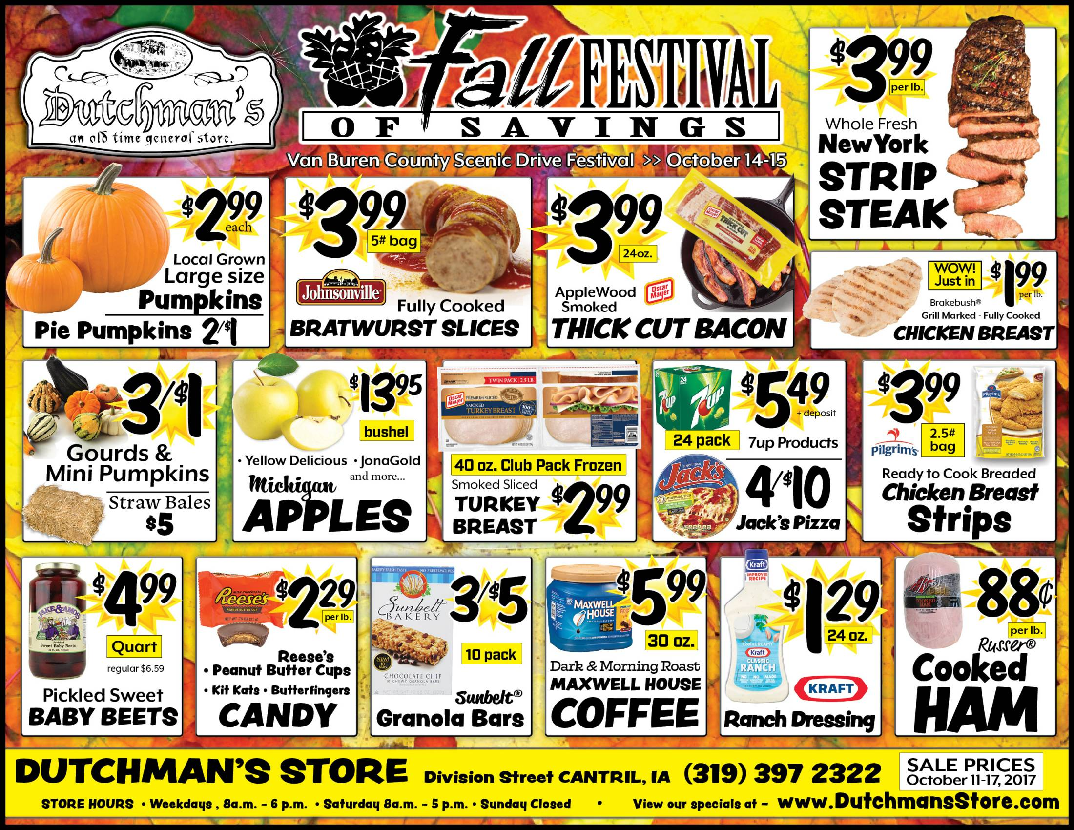 In-Store Specials at Dutchman's Store Cantril Iowa | Discounted Bulk Food Items
